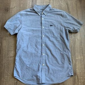 RVCA Oxford slim fit short sleeve sz Large